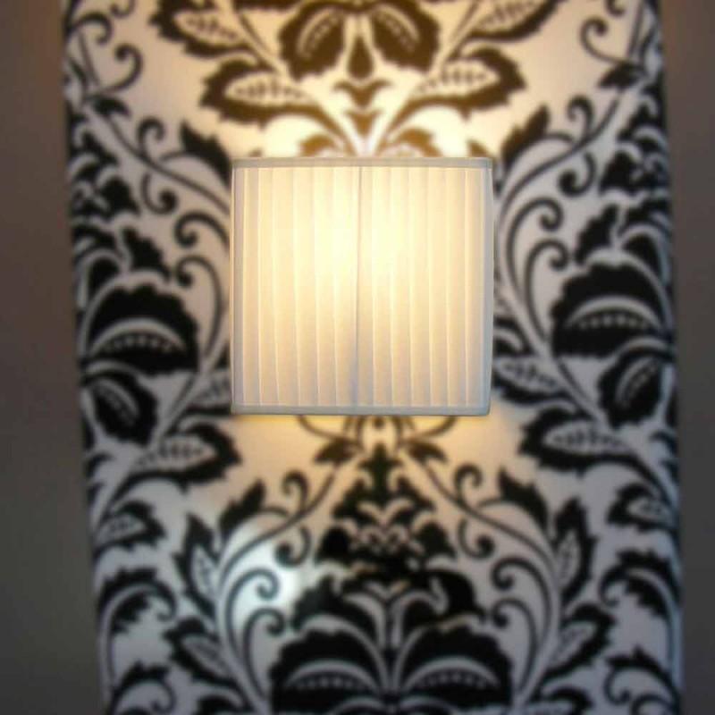 Applique moderne en soie de bambou, couleur ivoire