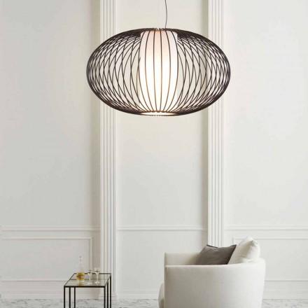 Lampe à suspension en acier peint 90xh.53x L.câble 100 cm Gioia