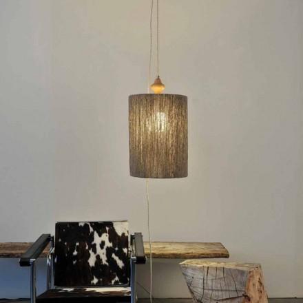 Lampadaire de design moderne en bois et 100% laine Bois