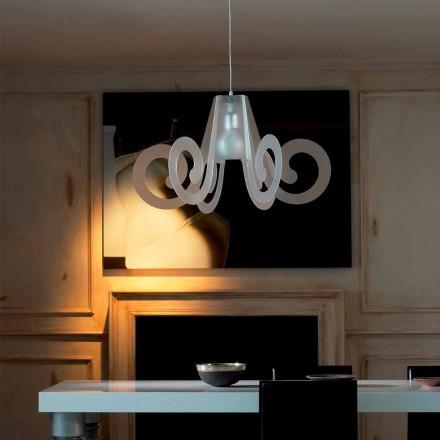 Lampe à suspension design en métacrylate, diamètre 75 cm, Rania