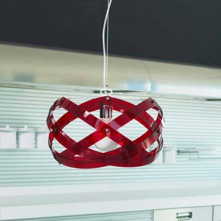 Lampe à suspension design moderne en mèthacrylat, diam. 53cm, Vanna
