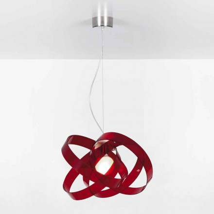 Lampe à suspension design moderne en méthacrylate, diam. 56 cm, Ferdi