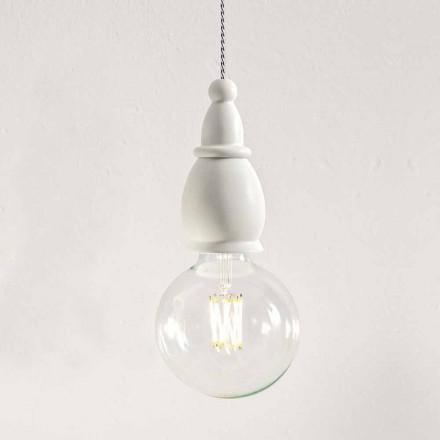 Lampe à Suspension Shabby en Céramique Made in Italy – Fate by Aldo Bernardi