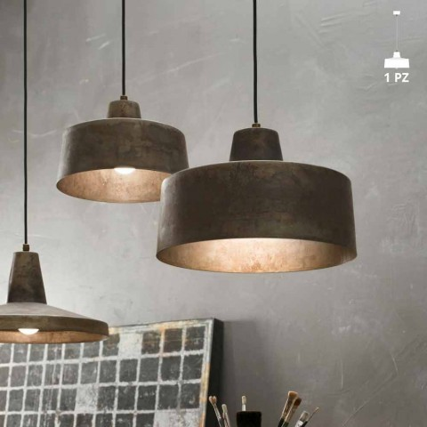 suspension luminaire design industriel en fer vieilli jean. Black Bedroom Furniture Sets. Home Design Ideas