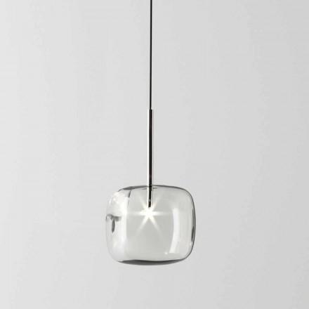 Lampe à Suspension Design en Métal et Verre Made in Italy - Donatina