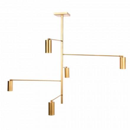 Lampe à suspension artisanale en fer peint Made in Italy - Pringa