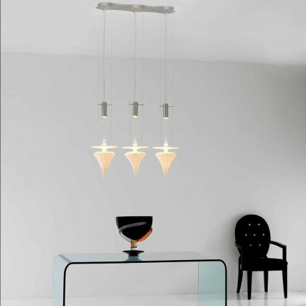 Suspension moderne en verre de Murano Made in Italy - Saviano