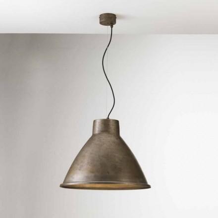 Lampe industrielle à suspension en fer Loft Grande Il Fanale
