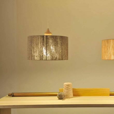 Suspension de design moderne avec élément en bois Bois