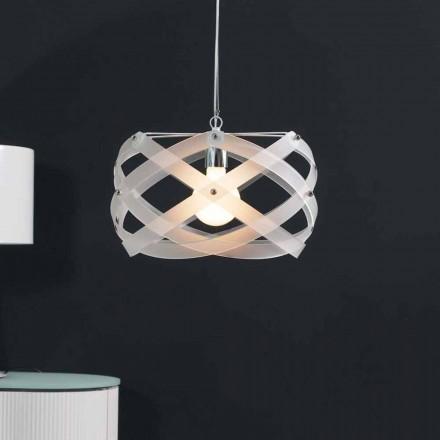 Lampe à suspension moderne en méthacrylate, diamètre 40 cm, Vanna