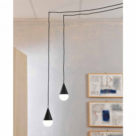 Suspension noire de design moderne Drop