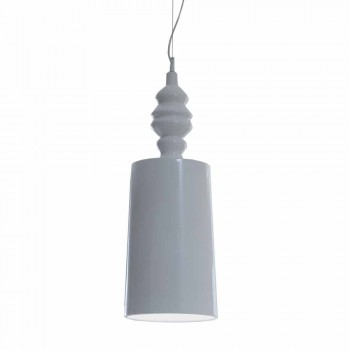Abat-jour à suspension en céramique blanche brillante - Cadabra