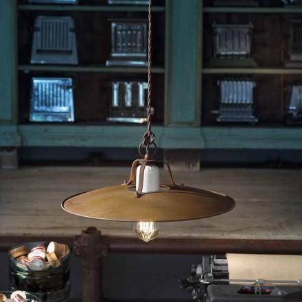 Lampe suspendue de style industrielle faite en Italie par Ferroluce
