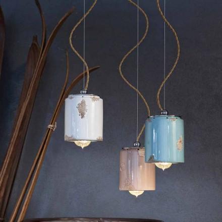 Lampe suspendue de design vintage en céramique Ferroluce