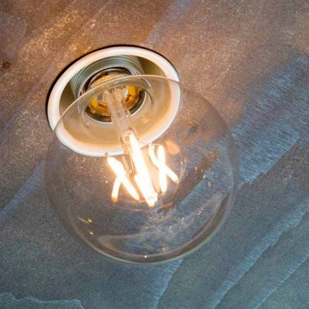 Lampe encastrée artisanale en aluminium blanc Made in Italy - Frana