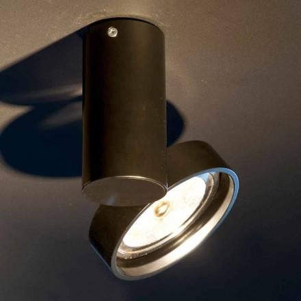 Lampe en aluminium fabriquée à la main avec anneau réglable Fabriqué en Italie - Gemina