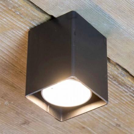 Lampe artisanale en fer noir de forme cubique Made in Italy - Cubino
