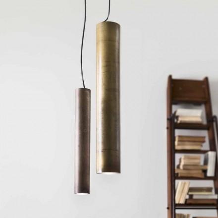 Lampe rustique suspendue en fer ou lation Ø8 Girasoli Il Fanale