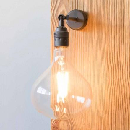 Lampe avec structure en fer bruni fabriquée à la main en Italie - Alabama