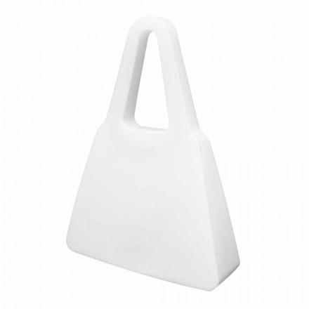 Lampe de table ou de sol design blanc pour intérieur ou extérieur - Borsastar