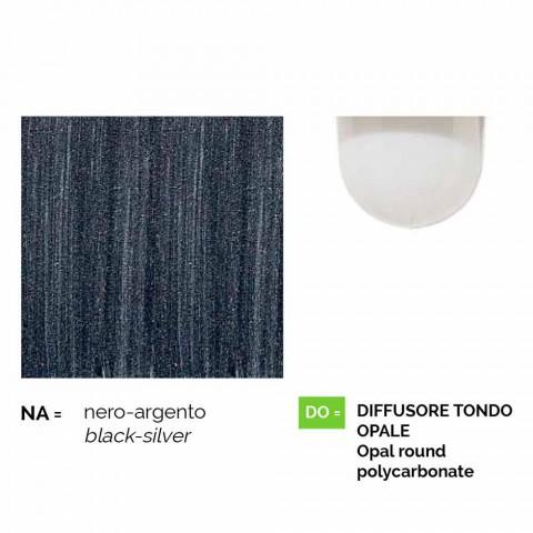 Applique d'extérieur en aluminium moulé sous pression fabriqué en Italie, Anusca