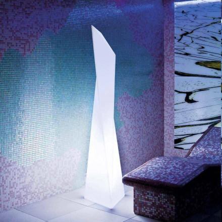 Lampe d'extérieur blanche en forme de prisme Slide Manhattan, fabriquée en Italie