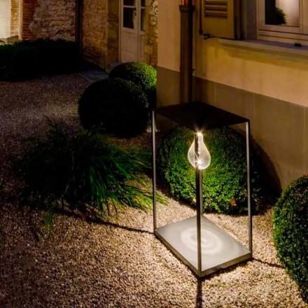 Lampe d'extérieur en fer fabriquée à la main avec LED intégrée Made in Italy - Cubola