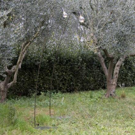 Lampe d'extérieur artisanale en fer et verre décoratif Made in Italy - Beba