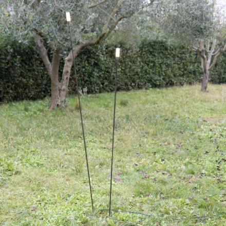 Lampe d'extérieur en fer peint Design minimaliste Made in Italy - Filo