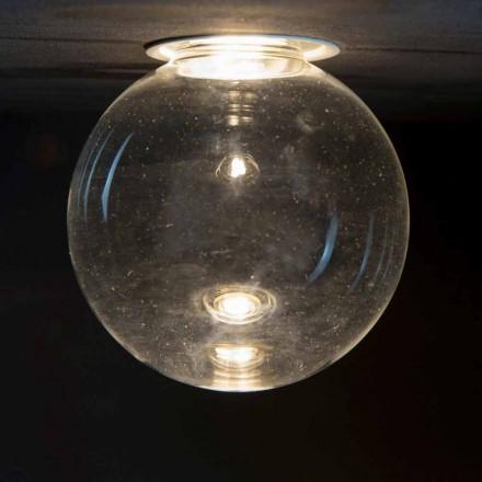 Lampe encastrée en aluminium avec verre décoratif Made in Italy - Ampolla