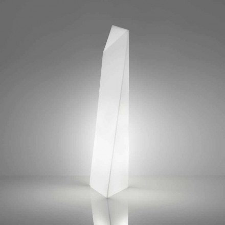 Lampadaire blanc moderne en forme de prisme Slide Manhattan, fabriqué en Italie