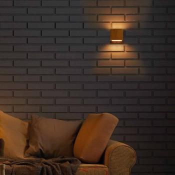 mur de conception de la lampe en laiton et acier Ø11xh.11xsp.10 cm Venus
