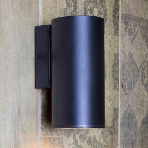 Applique murale cylindrique en fer fabriquée en Italie - Gemina