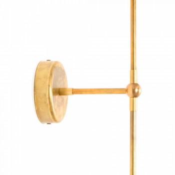Applique artisanale avec structure en laiton Made in Italy - Carma