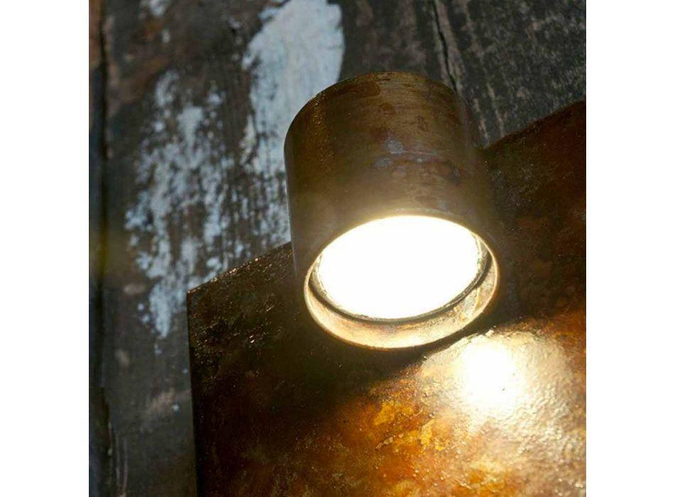 Applique Artisan en finition Iron Corten Made in Italy - Cialda