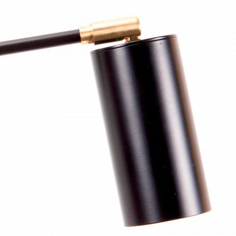 Applique Artisan noire avec détails en laiton Made in Italy - Master