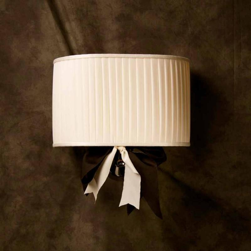 Applique vintage Chanel en soie ivoire