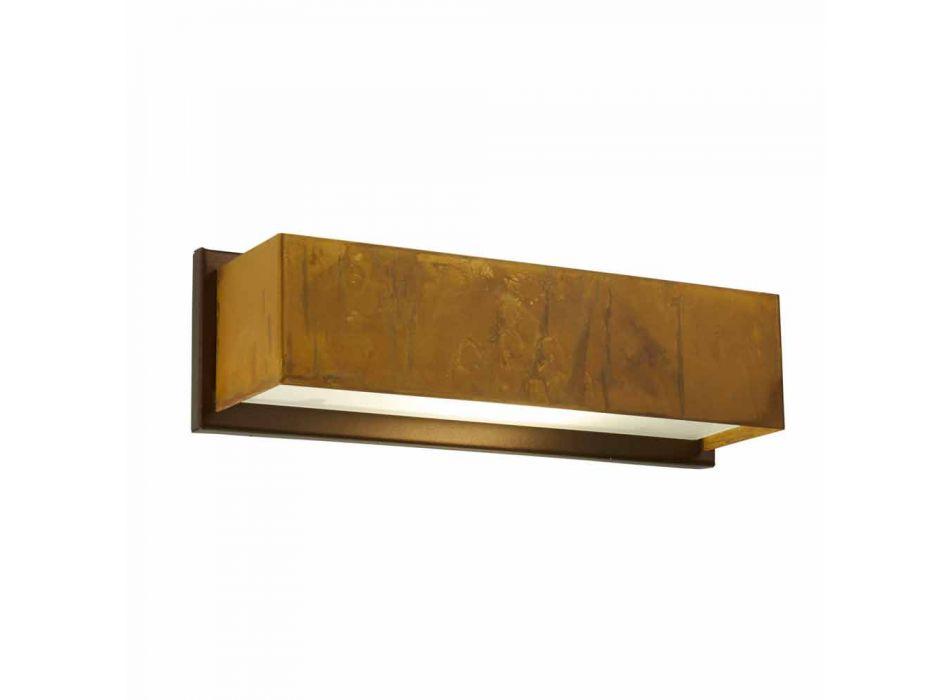 mur Lampe design en laiton et en acier inoxydable Ø35xh.10xsp.9 de Harya