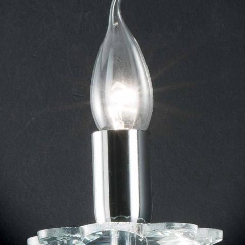Lampe en verre murale design et cristallo Ivy, fabriqué en Italie