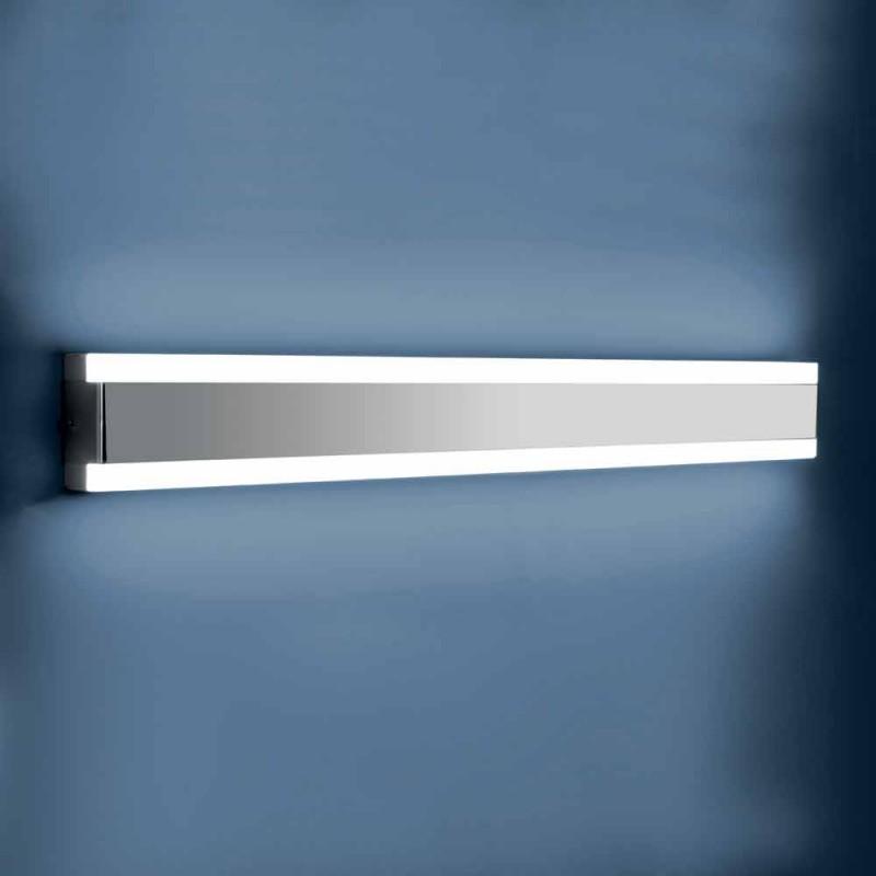 Applique murale en acier inoxydable, plexiglas et aluminium avec lumière LED - Magneto