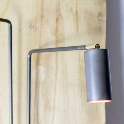 Applique en fer et aluminium artisanal Made in Italy - Gemina