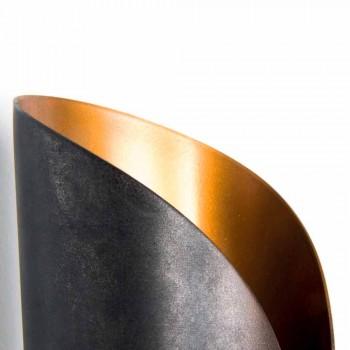 Applique murale en fer et aluminium fabriquée à la main en Italie - Giglia