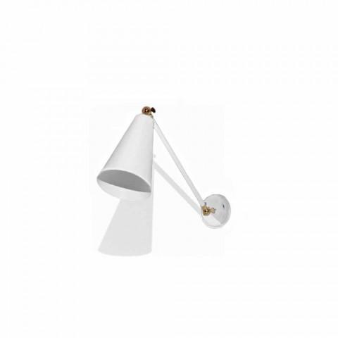 Applique en métal avec détails en finition dorée Made in Italy - Zaira