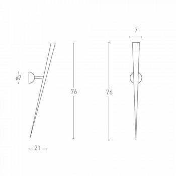 Applique en Métal Peint avec LED Intégrée Made in Italy - Trône