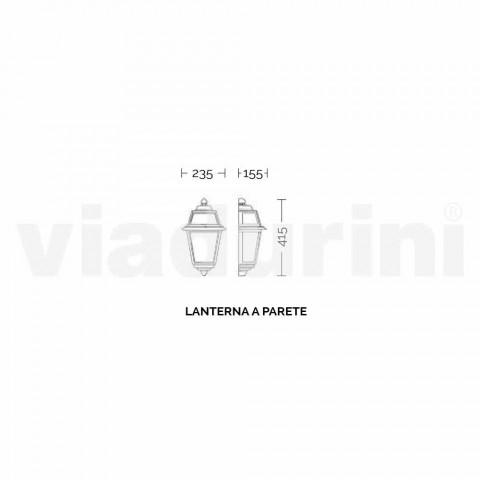 Applique pour extérieur classique made in Italy, Kristel aluminium