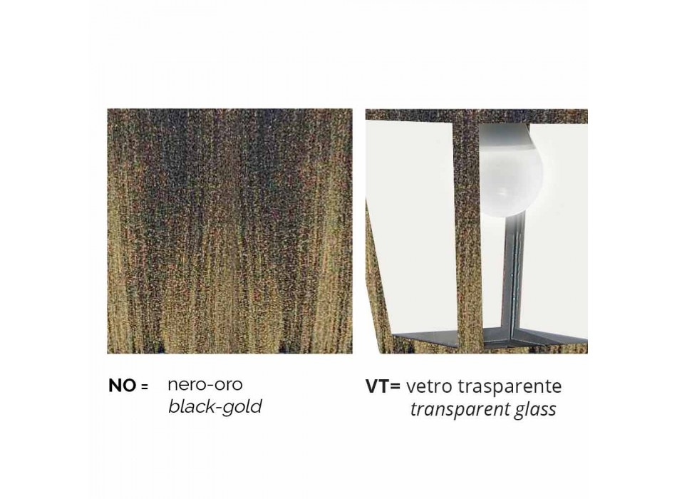 Applique d'extérieur en aluminium fabriqué en Italie, Aquilina