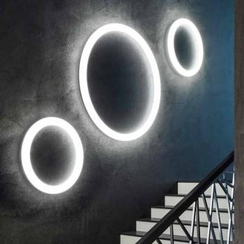 Applique murale ronde moderne en polyéthylène Made in Italy - Slide Giotto