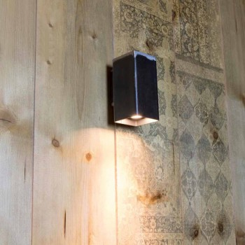 Applique murale carrée faite à la main en fer noir Made in Italy - Cubino