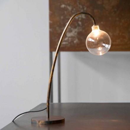 Lampe de table en fer à la main finition dorée Made in Italy - Ribolla
