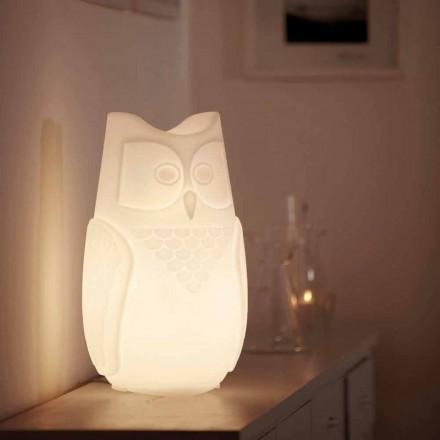 Lampe à poser colorée en forme de hibou Slide Bubo, fabriquée à 100% en Italie